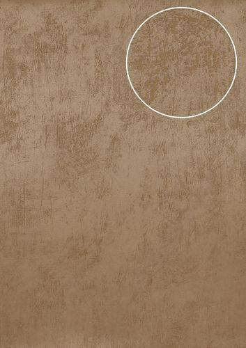 Uni kleuren behang Atlas TEM-5113-2 vliesbehang glad in spachtelputz look en metallic effect beige cappuccino grijsbeige parelmoer-grijs 7,035 m2 – Bild 1