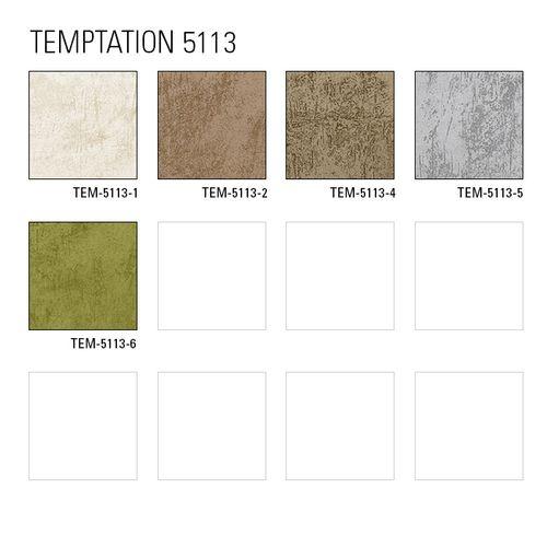 Uni kleuren behang Atlas TEM-5113-6 vliesbehang glad in spachtelputz look en metallic effect groen appel-groen bleekgroen goud 7,035 m2 – Bild 4