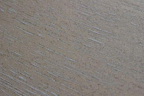 Uni kleuren behang Atlas TEM-5114-3 vliesbehang gestructureerd in shabby chic stijl glanzend beige cappuccino grijsbeige 7,035 m2 – Bild 2