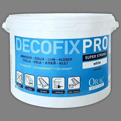 Orac Decor FDP600 glue for mouldings profiles cornices Acrylic DecoFix PRO Installation adhesive 6,4 kg water-based – Bild 3