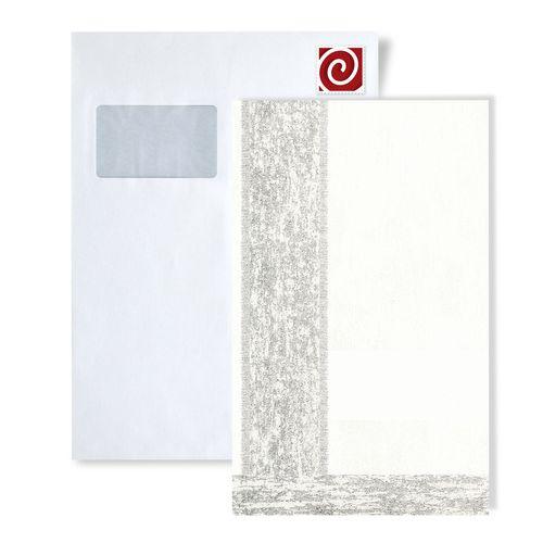 Échantillon de papier peint ATLAS 5060-series | Papier peint à rayures avec des figures géométriques et des accents métalliques – Bild 1