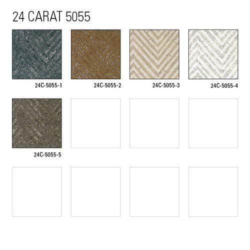 Échantillon de papier peint ATLAS 5055-series | Papier peint à rayures avec un dessin de chevrons et des accents métalliques – Bild 6