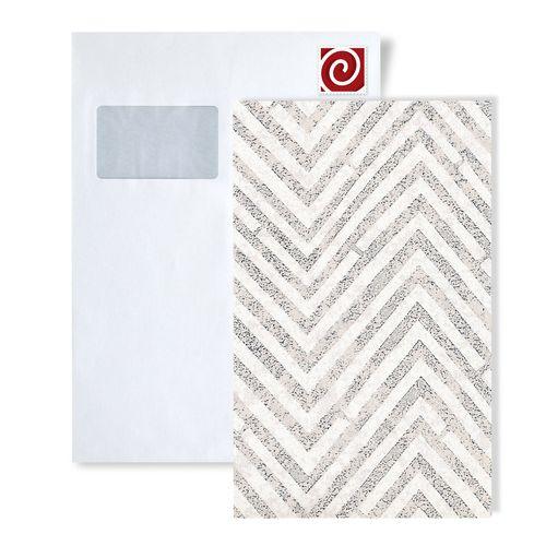 Staal behang ATLAS 5055-series | Strepen behang met chevron patroon en metalen accenten – Bild 4