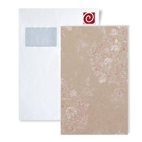 Campione di carta da parati ATLAS 5081-series | Carta da parati floreale con ornamenti floreali lucida – Bild 2
