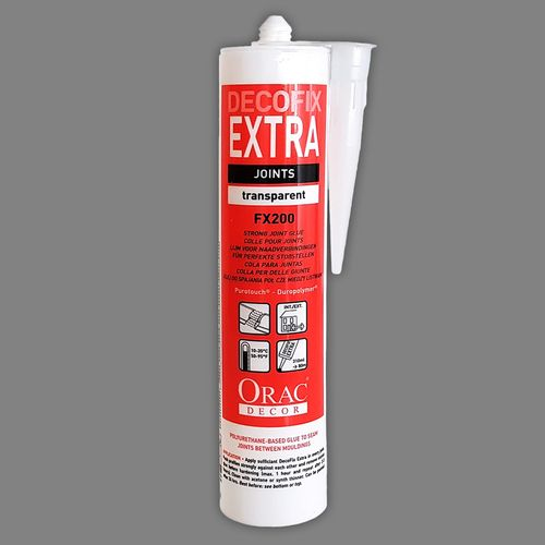 Orac Decor FX200 Glue DecoFix Extra Installation adhesive 310 ml polyurethane-based seam joints between mouldings – Bild 3