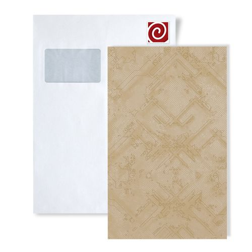 Échantillon de papier peint ATLAS 580-series | Papier peint à motifs graphiques avec un dessin abstrait satiné – Bild 4