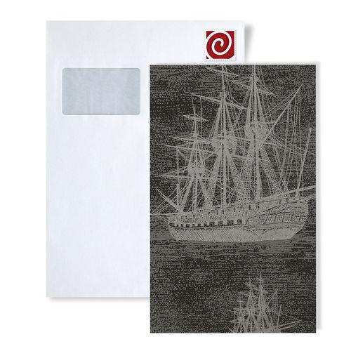 Campione di carta da parati ATLAS 584-series | Carta da parati grafica con motivi marittimi ed accenti metallici – Bild 2