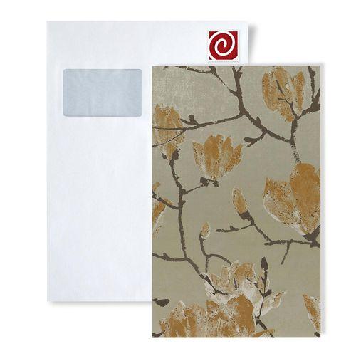 Échantillon de papier peint ATLAS 5110-series | Papier peint floral avec un dessin graphique satiné – Bild 4