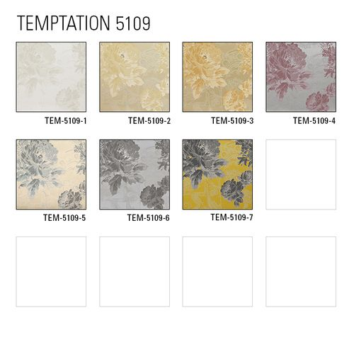 Tapeten MUSTER ATLAS 5109-Serie | Blumen Tapete mit Paisley Muster und metallischen Akzenten – Bild 4