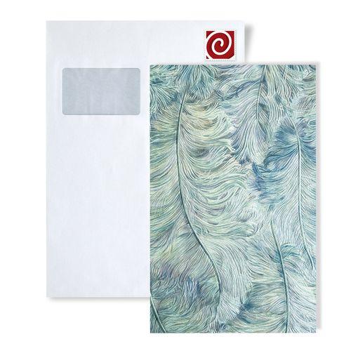 Muestra de papel pintado Profhome serie 8222 | papel pintado de lujo con plumas brillante – Imagen 6