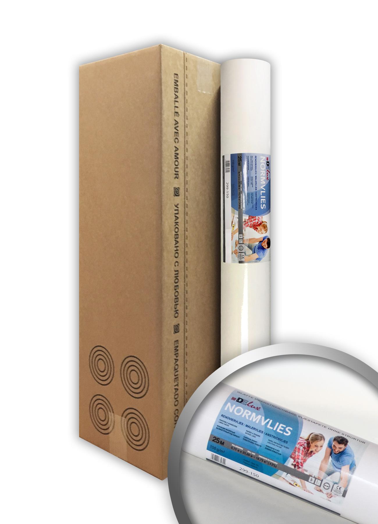 Carta Da Parati Verniciabile rivestimento murale tnt verniciabile 150 g profhome normvlies 299-150 carta  fodera liscia in tessuto non tessuto | 4 rotoli 75 m2 | profhome negozio