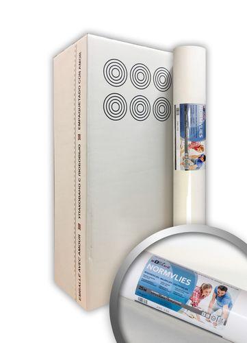 NORMVLIES 150 g Renoviervlies 6 Rollen 112,5 m2 Glattvlies Malervlies glatte überstreichbare Vliestapete weiß – Bild 1
