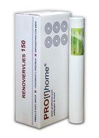Profhome Renoviervlies 150 g Malervlies Vlies glatte überstreichbare Vliestapete weiß | 1 Kart. 6 Rollen 001