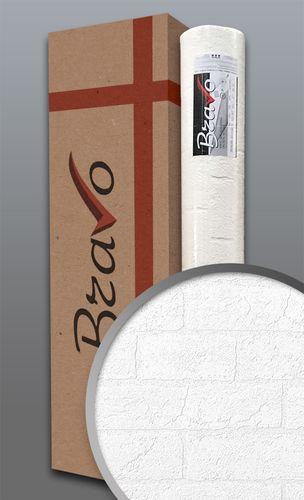 Struktur-Tapete EDEM 83101BR70 Überstreichbare Stein Vliestapete strukturiert in Mauersteinoptik Ziegelstein weiß | 106 m2 1 Karton 4 Rollen – Bild 1