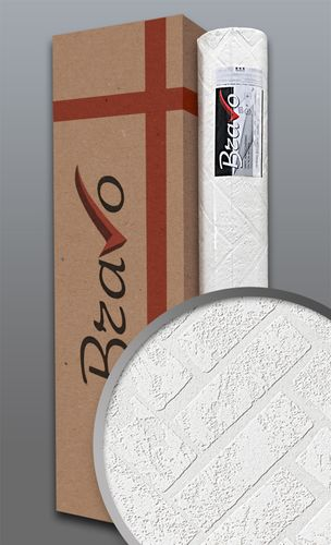 Struktur-Tapete EDEM 83102BR70 Überstreichbare Vliestapete strukturiert in Steinoptik Ziegelstein Klinker weiß | 106 m2 1 Karton 4 Rollen – Bild 1