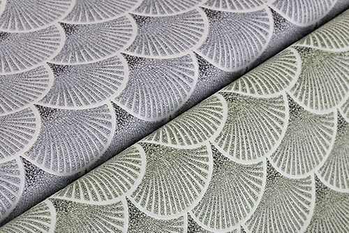 Retro Tapete EDEM 1031-15 Vinyltapete geprägt mit grafischem Muster glitzernd creme grün weiß grau 5,33 m2 – Bild 2