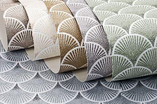 Retro Tapete EDEM 1031-16 Vinyltapete geprägt mit grafischem Muster glitzernd weiß silber 5,33 m2 – Bild 3