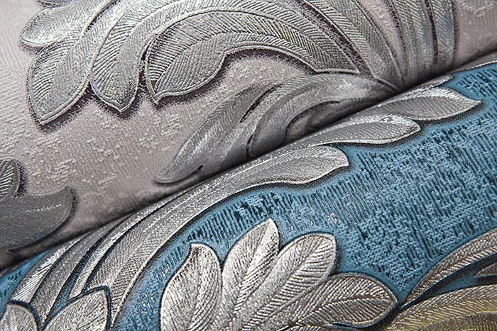 Carta da parati barocca edem 1032 12 carta da parati in vinile liscia con ornamento ed effetto - Tapete petrol blau ...
