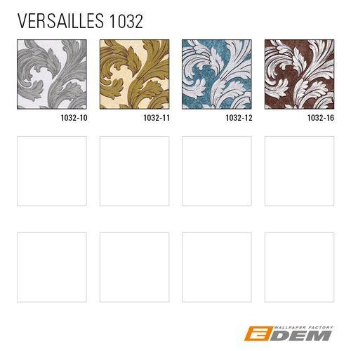 Papier peint baroque EDEM 1032-12 papier peint vinyle lisse avec des ornements et des accents métalliques bleu pétrole argent platine 5,33 m2 – Bild 5