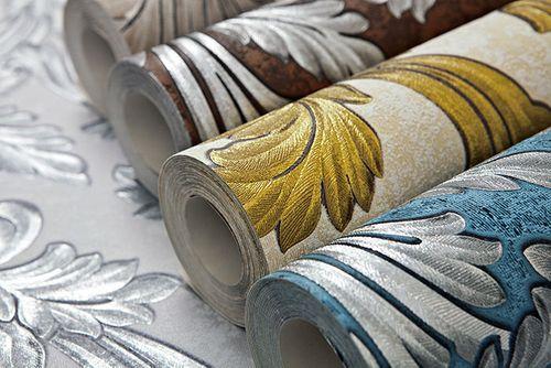 Barock Tapete EDEM 1032-12 Vinyltapete glatt mit Ornamenten und Metallic Effekt blau petrol silber platin 5,33 m2 – Bild 3