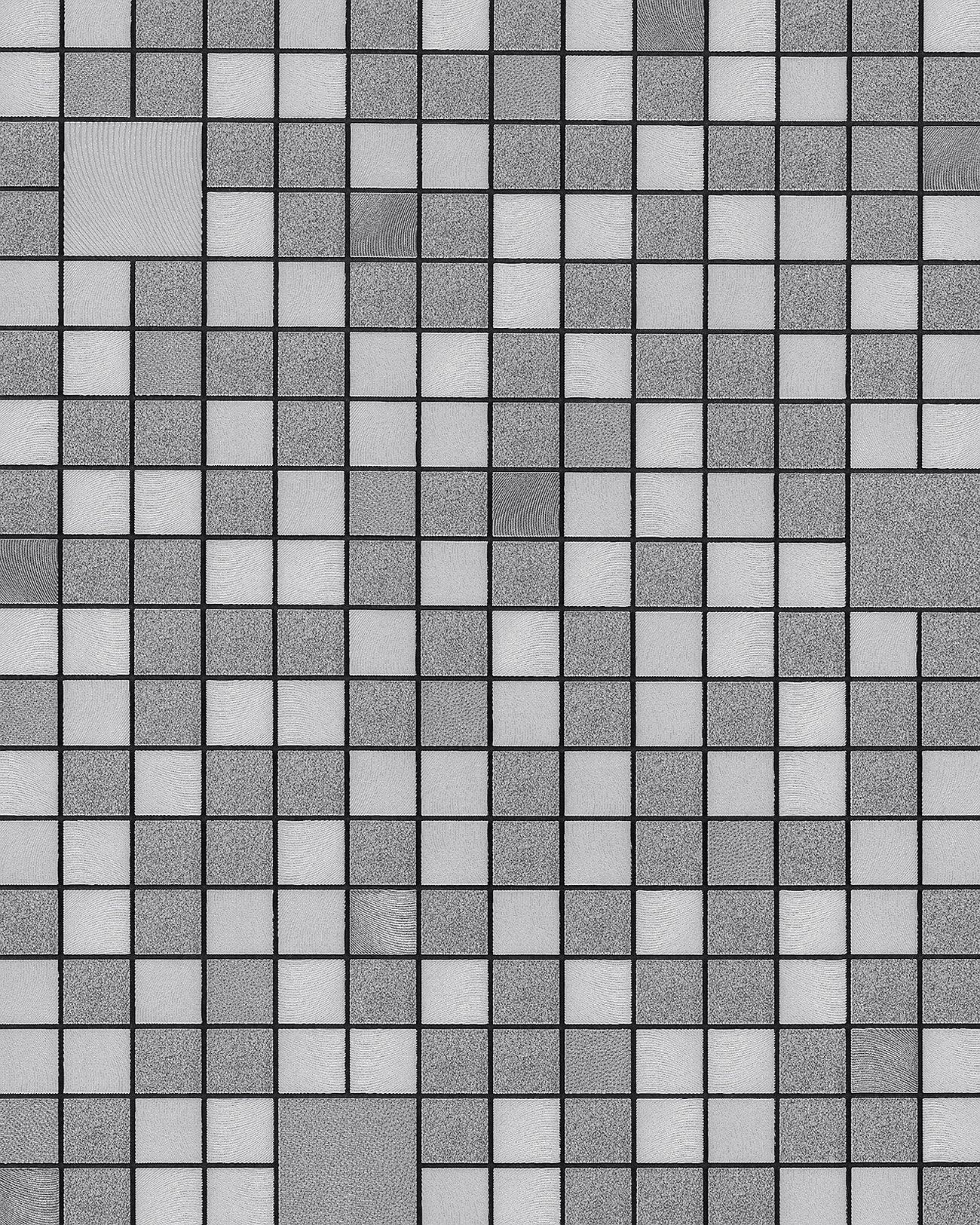 Papier Peint Pour Cuisine papier peint pour cuisine et bain edem 1033-16 papier peint vinyle gaufré  avec des figures géométriques et des accents métalliques argent platine  gris