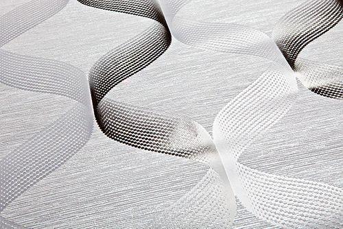 Papier peint rétro EDEM 1034-10 papier peint vinyle texturé avec un dessin graphique scintillant argent gris anthracite 5,33 m2 – Bild 2