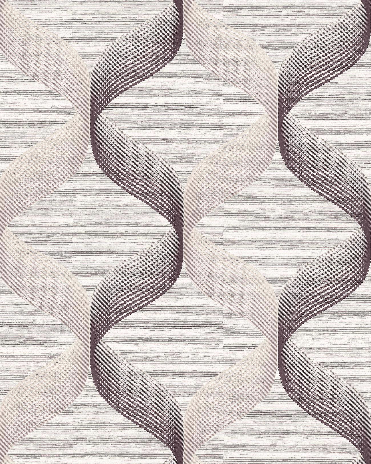 Retro Tapete EDEM 1034 14 Vinyltapete Strukturiert Mit Grafischem Muster  Glitzernd Creme Beige Braun