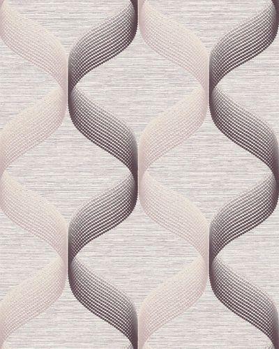 Retro Tapete EDEM 1034-14 Vinyltapete strukturiert mit grafischem Muster glitzernd creme beige braun 5,33 m2 – Bild 1