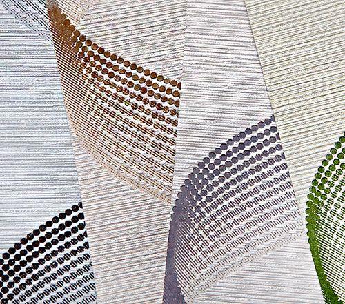Papier peint rétro EDEM 1034-15 papier peint vinyle texturé avec un dessin graphique scintillant vert blanc 5,33 m2 – Bild 3
