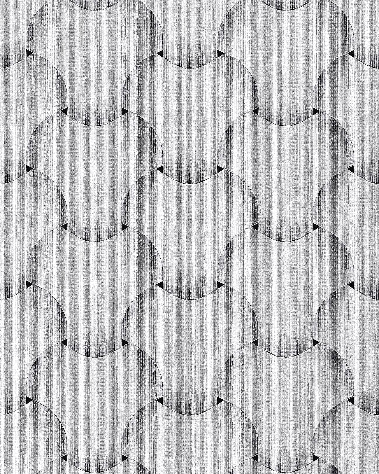 Retro Wallpaper Wall Edem 1035 10 Vinyl Wallcovering Textured With Graphical Pattern Glittering Silver Gray White 5 33 M2 57 Ft2