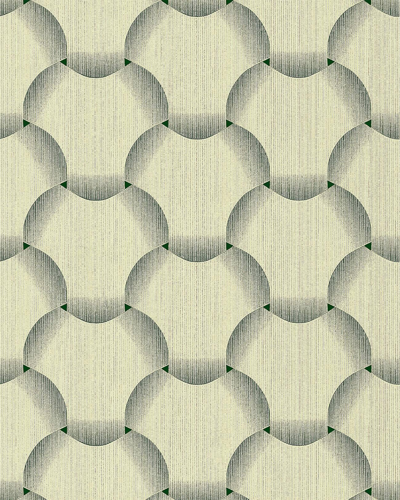 EDEM 1034-15 Retro Tapete Grafisch glitzernd grün weiß 5,33 m2