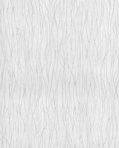 Stripes wallpaper wall EDEM 122-20 vinyl wallcovering embossed Ton-sur-ton and metallic highlights white gray 5.33 m2 (57 ft2) – Bild 1