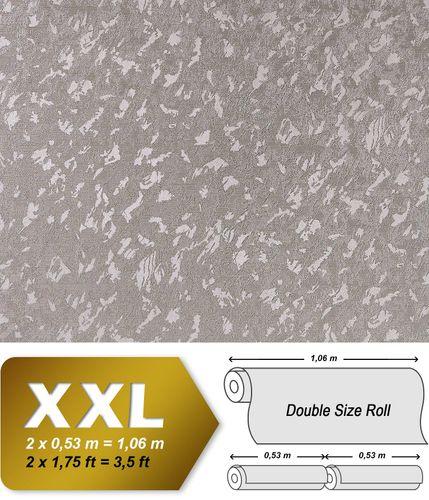 Uni Tapete EDEM 9011-34 Vliestapete geprägt in Spachteloptik glänzend silber grau 10,65 m2 – Bild 1