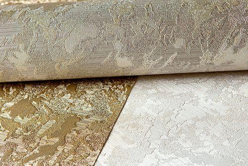 Papel pintado liso EDEM 9011-34 Papel pintado no tejido gofrado de aspecto yeso brillante plata gris 10,65 m2