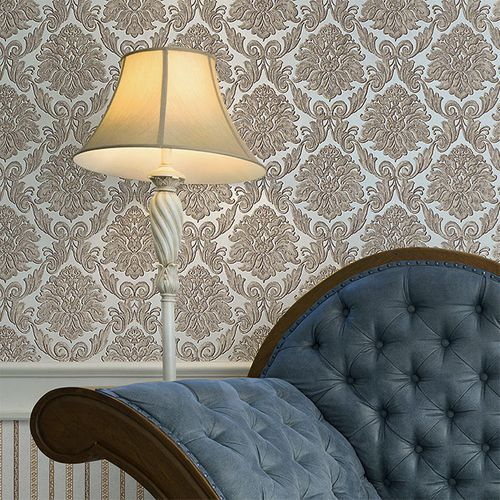 Baroque wallcovering wall EDEM 9014-30 non-woven wallcovering embossed with ornaments shiny white silver gray 10.65 m2 (114 ft2) – Bild 7