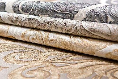 Baroque wallcovering wall EDEM 9014-32 non-woven wallcovering embossed with ornaments shiny beige cream bronze 10.65 m2 (114 ft2) – Bild 4