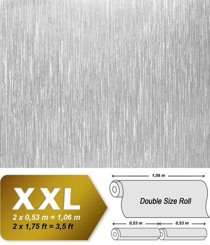 Overschilderbaar reliëfbehang EDEM 373-60 Vliesbehang gestreept wit | 4 rollen 106 m2 – Bild 2