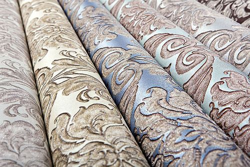 Baroque wallcovering wall EDEM 9014-37 non-woven wallcovering embossed with ornaments shiny blue gray bronze 10.65 m2 (114 ft2) – Bild 5