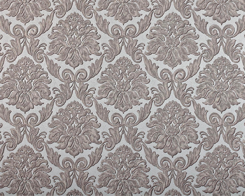 Edem 9014 39 Papier Peint Baroque Brillant Argent Blanc Creme 10 65