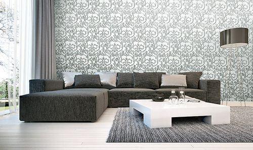 Barock Tapete EDEM 9016-30 Vliestapete geprägt mit floralen Ornamenten und metallischen Akzenten weiß creme-weiß silber platin 10,65 m2 – Bild 4