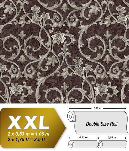 Barock Tapete EDEM 9016-36 Vliestapete geprägt mit floralen Ornamenten und metallischen Akzenten braun perl-beige 10,65 m2 – Bild 1