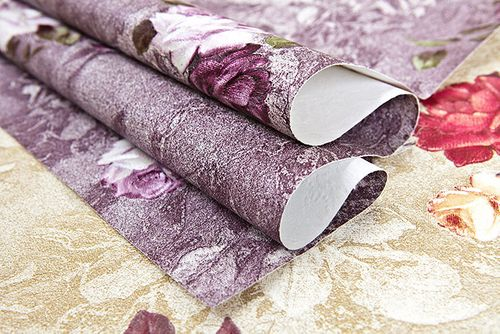 Flowers wallcovering wall EDEM 9045-25 non-woven wallcovering embossed romantic design matt violet eggplant-colored wine-red white 10.65 m2 (114 ft2) – Bild 3