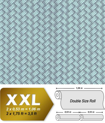 Graphic wallpaper wall EDEM 81121BR17 non-woven wallcovering smooth with abstract pattern glittering green mint gray 10.65 m2 (114 ft2) – Bild 1