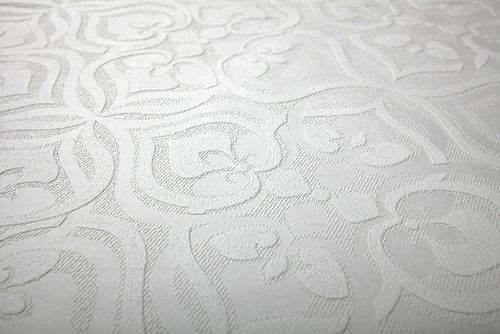 Baroque wallcovering wall EDEM 83001BR60 paintable non-woven wallcovering textured with ornaments matt white 26.50 m2 (285 ft2) – Bild 4