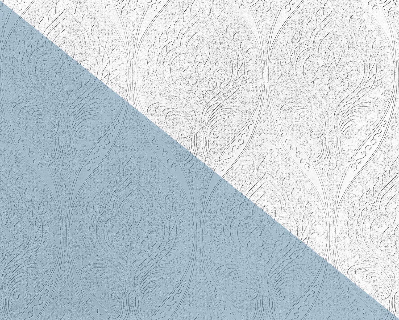Edem 83007br60 Papier Peint Intisse A Peindre Baroque Mat Blanc 26