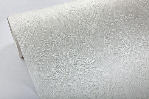 Barock Tapete EDEM 83007BR60 Vliestapete zum Überstreichen strukturiert mit Ornamenten matt weiß 26,50 m2 – Bild 3