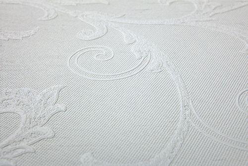 Florale Tapete EDEM 83012BR60 Vliestapete zum Überstreichen strukturiert mit Ornamenten matt weiß 26,50 m2 – Bild 5