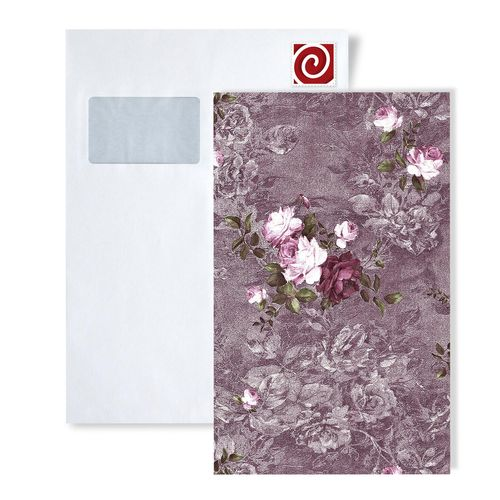 ITEM SAMPLE Wallcovering Wallpaper EDEM 9045-series | Flowers wallcovering wall romantic matt