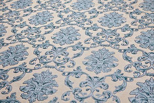 Barock Tapete EDEM 6001-90 Vliestapete geprägt mit Ornamenten glitzernd beige blau-grün grau 10,65 m2 – Bild 2