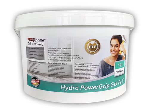 Special primer with gel consistency PROFHOME Hydro PowerGrip Gel excellent surface stabilisation and bonding 10 l for max 66 m2 – Bild 1